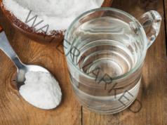 Изчистване на патогенната флора със солен разтвор