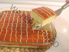 Трилече с домашен карамел - вкусна идея за сладкиш