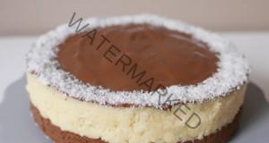 Домашна баунтии торта, готова само за 10 минути, без печене