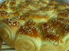 Питка от бутер тесто със сусамово семе - мека като памук