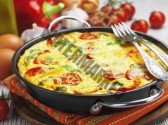 Фритата с домати - вкусна закуска само от няколко продукта