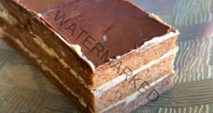 Постна шоколадова торта с кафе - невероятна комбинация