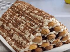 Торта с бишкоти и сладко от череши: 15 минути и сте готови!