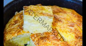 Царевична питка с кисело мляко от готови кори, вкусна и засищаща