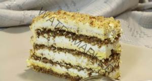 Домашна торта с лешници - подходяща за всяка трапеза