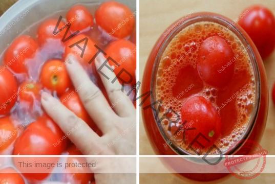 Консервирани домати в собствен сок. Една отлична рецепта