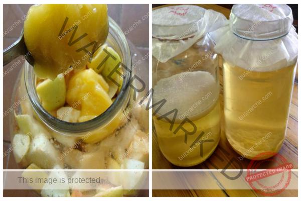 Домашен ябълков оцет. Много по-вкусен, отколкото от магазина