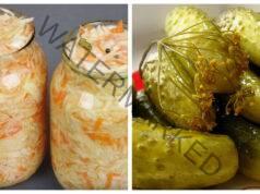 Кисело зеле и краставички за зимата - начин на приготвяне