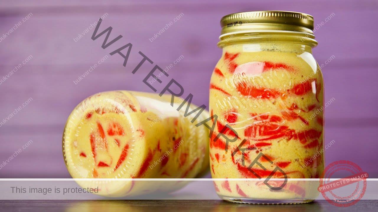 Пикантни чушки в горчичен сос и ароматни подправки