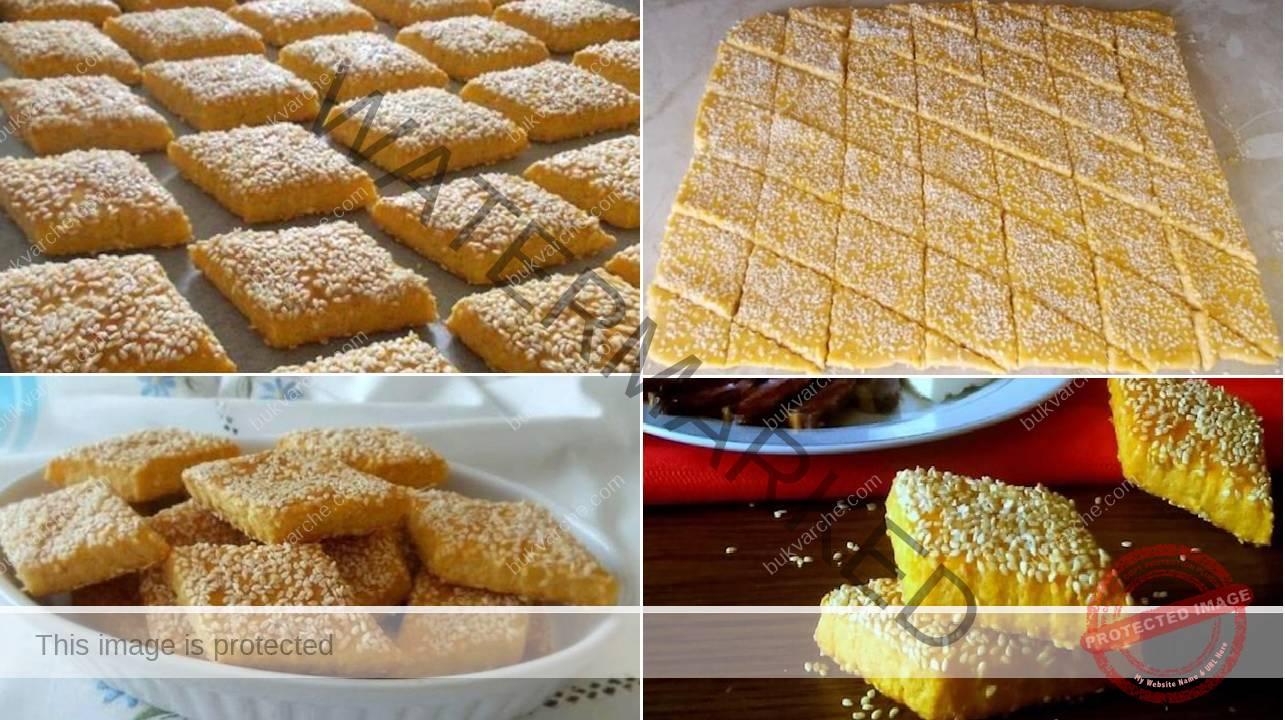 Сусамени сладки със заквасена сметана и сирене