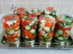 Туршия с цветно зеле, моркови и чушки, пълна с витамини и минерали