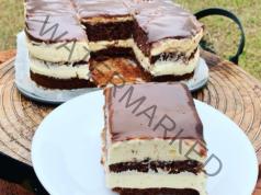 Шоколадова пудинг торта с аромат на ванилия - сочна и вкусна
