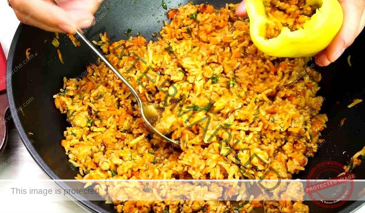 Пълнени чушки с кайма и ориз на фурна. Чудесна идея!