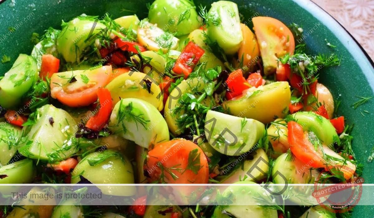 Ароматни зелени домати - вкусна идея за вашето мезе