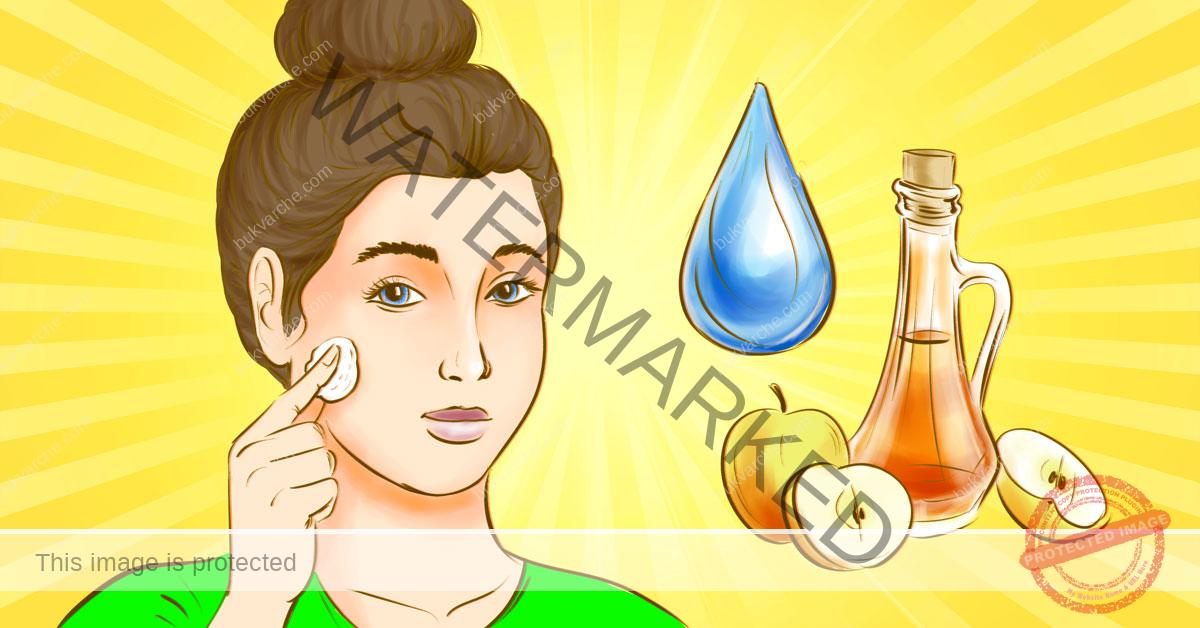 Домашен тоник за лице с оцет и вода за всеки тип кожа