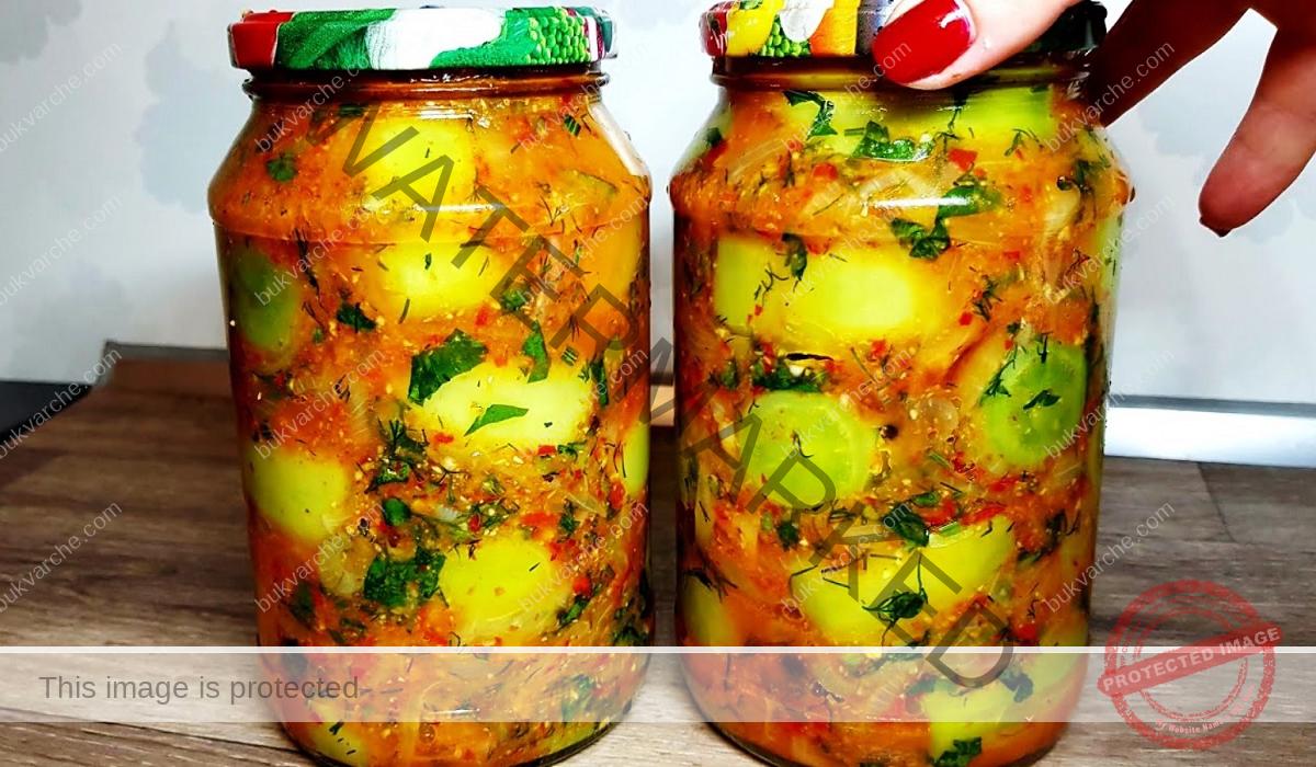 Пикантни мариновани зелени домати - най-вкусното мезе