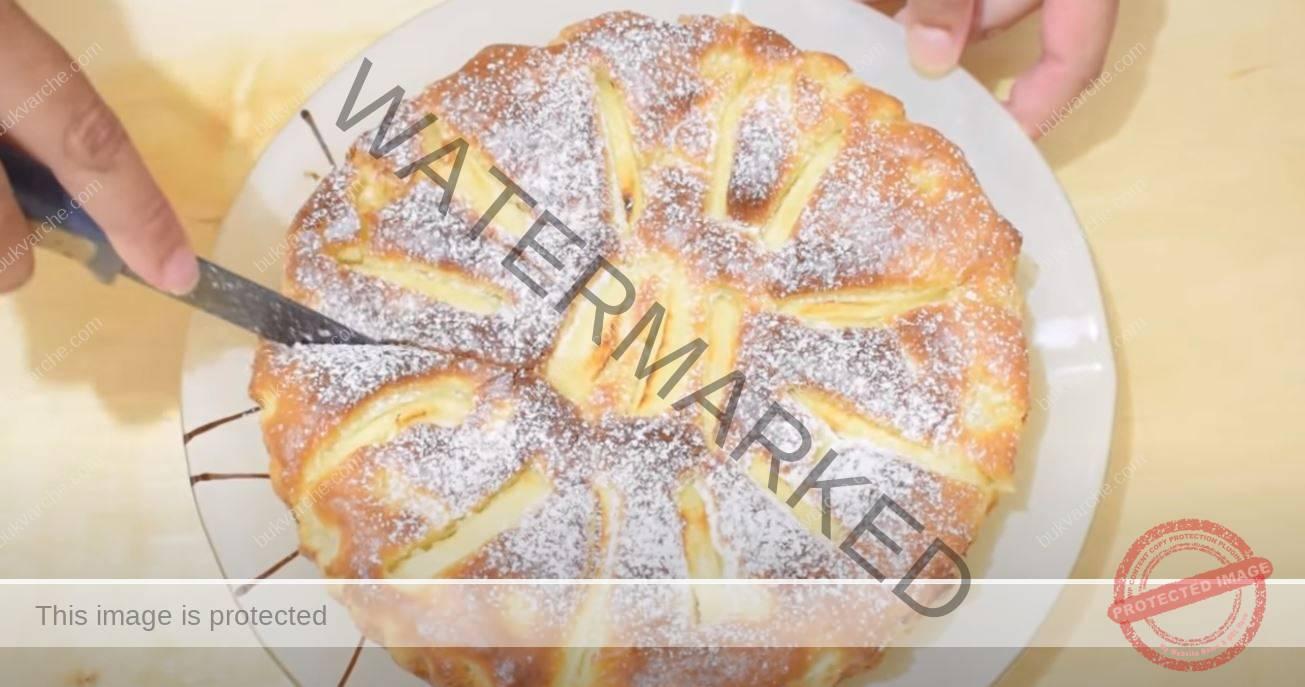 Рецепта за ябълков сладкиш с 1 яйце - въздушен и мек