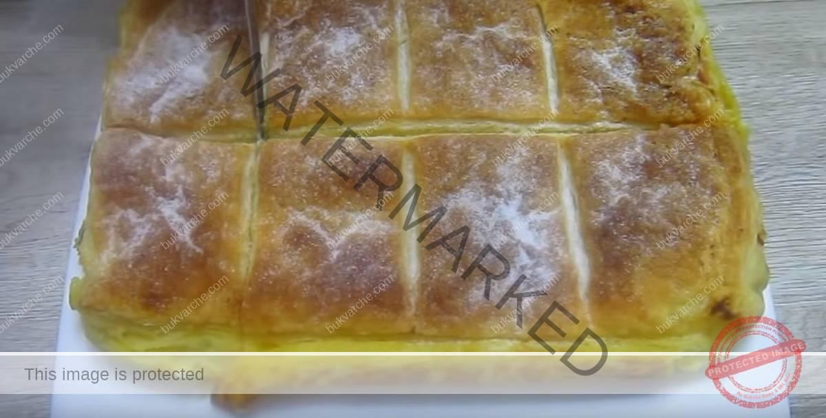 Сладкиш от бутер тесто с нежен портокалов крем