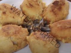 Бутчета в картофено пюре на фурна с вкусна златна коричка