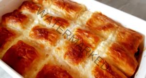 Баница с пълнеж от сирене и лук, много лесна и вкусна