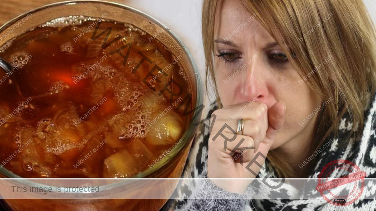 Домашен лек при кашлица с червен лук, лимон и мед