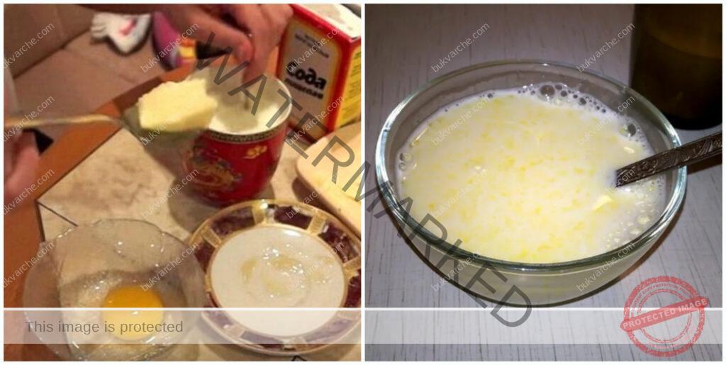 Народен лек срещу настинка с масло, жълтък и сода