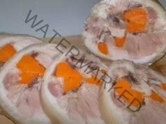 Руло от свински джолан с моркови - вкусно и засищащо