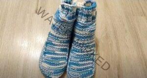 Чорапи на две игли - лесен за изработка модел!