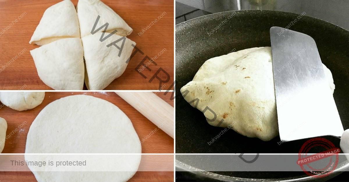 Турска базлама с мляко на тиган. Вкусен хляб за вашата супа