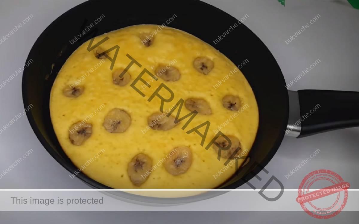 Торта на тиган с банани или плодове по ваше желание