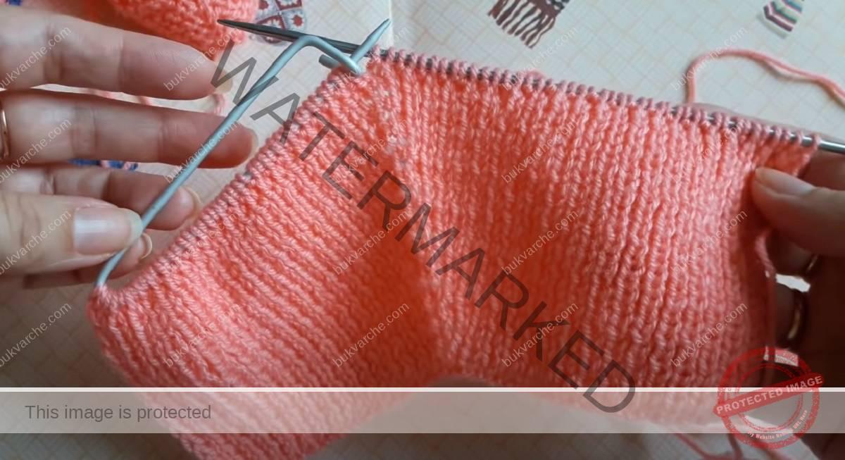 Плетени терлици на две игли - лесен модел с подробни инструкции