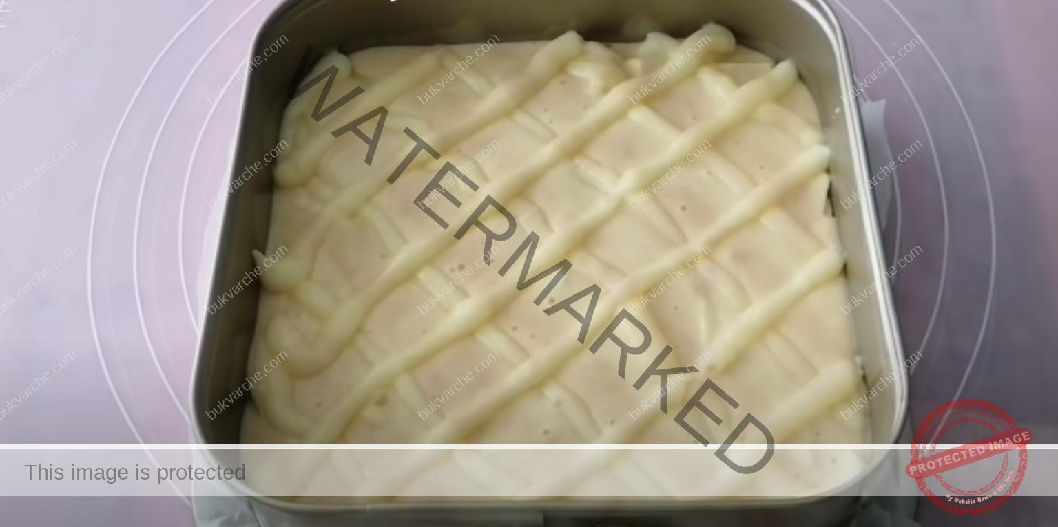 Сладкиш с крем и ябълки - вкусен, красив и въздушен