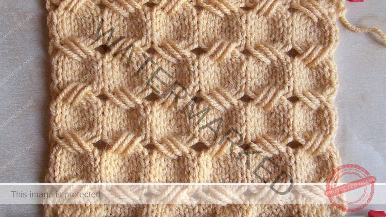 Ажурна плетка на две игли - красив и релефен модел
