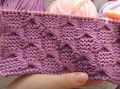"""Плетка """"панделки"""" - подходящ модел за одеяла и детски дрехи"""