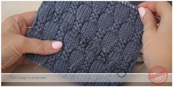 """Плетка """"шахматна дъска"""" за жилетки, пуловери и шалове"""
