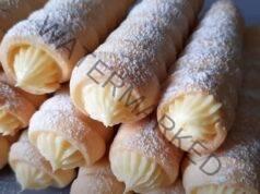 Рулца с ванилов крем. Меки, нежни и много вкусни