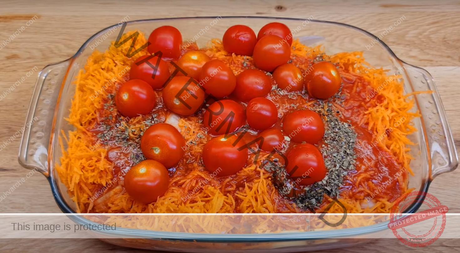 Свински пържоли на фурна с доматен сос и кашкавал