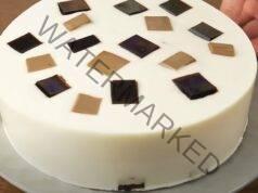 Желатинова торта със сметанов крем и аромат на кафе