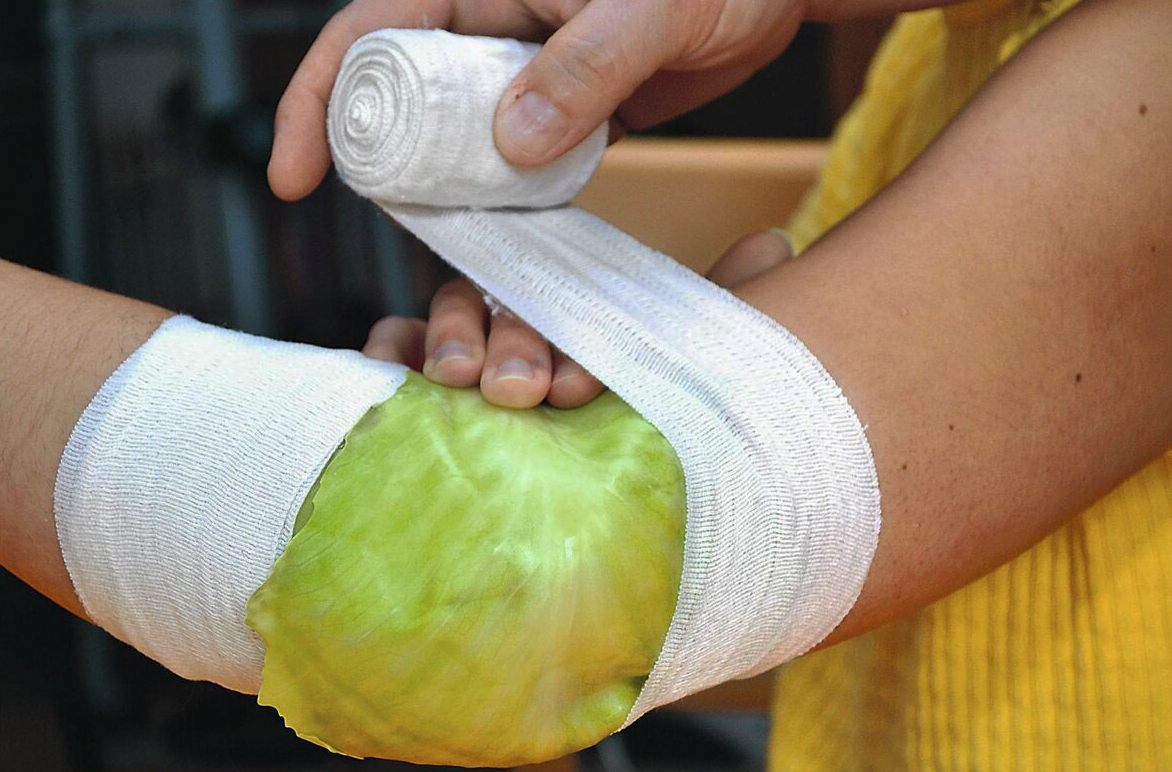 Зелев компрес при болка в коленете и възпаление