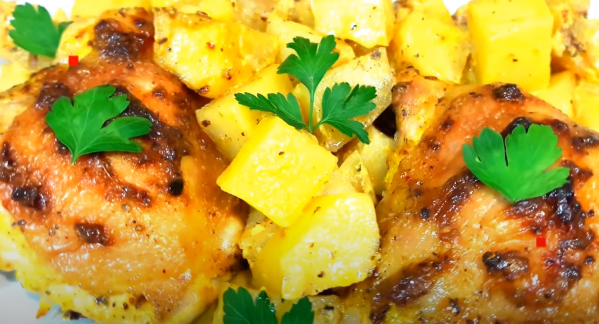 Картофи с бутчета и майонеза на фурна - лесно и вкусно