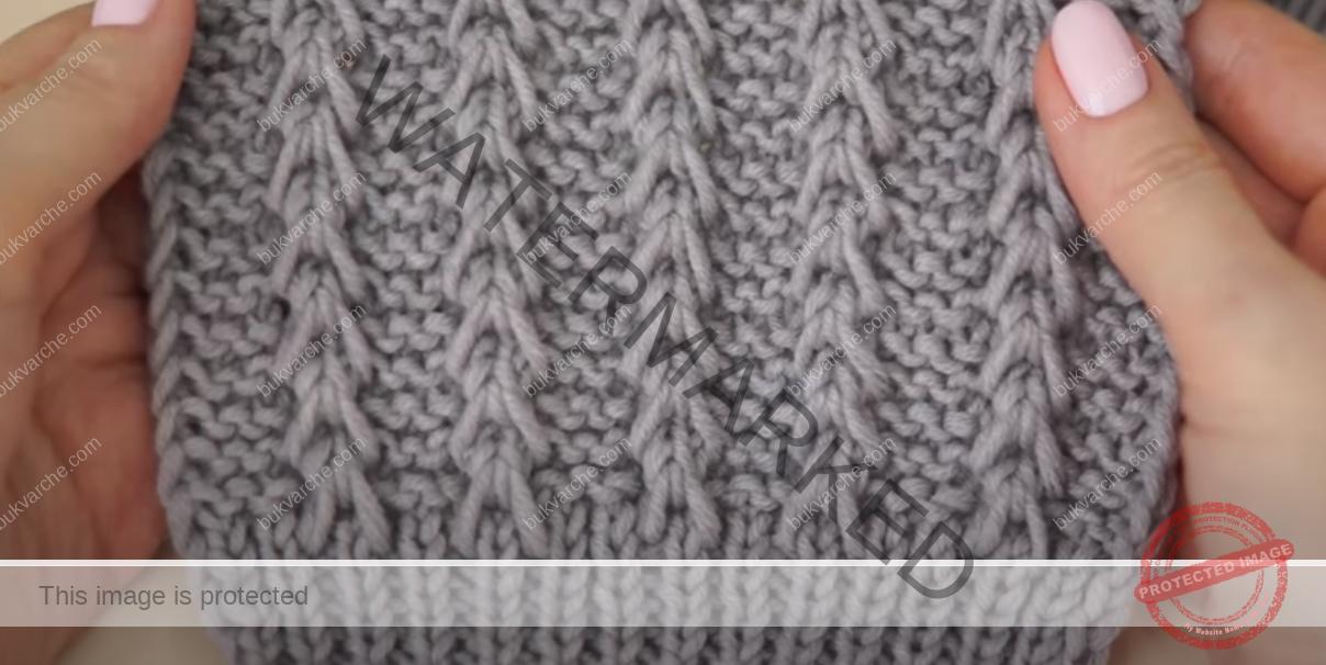 Необичаен модел плетка за пуловери, жилетки и шалове