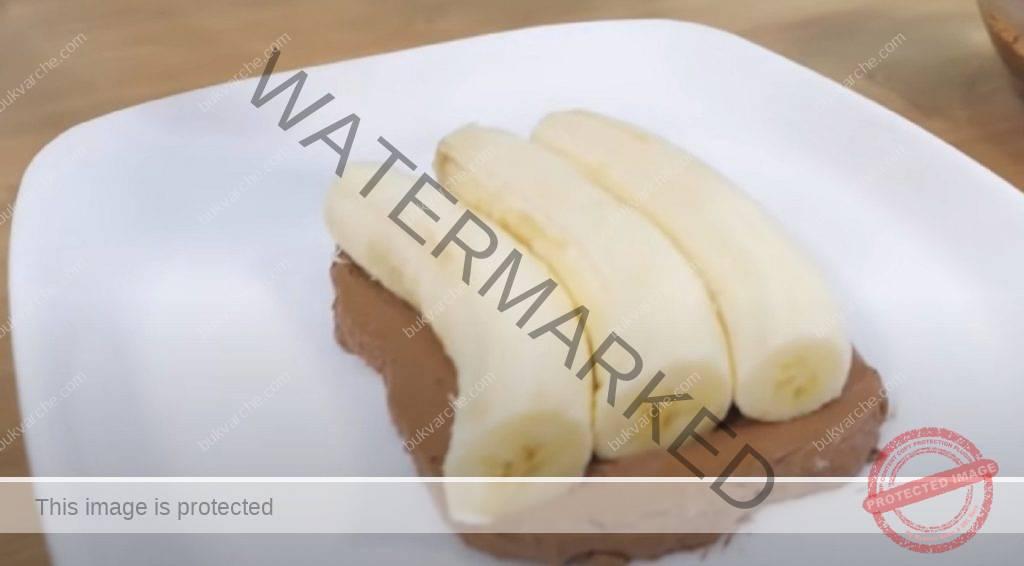 Вкусна бананова торта с шоколадов крем и ванилов аромат