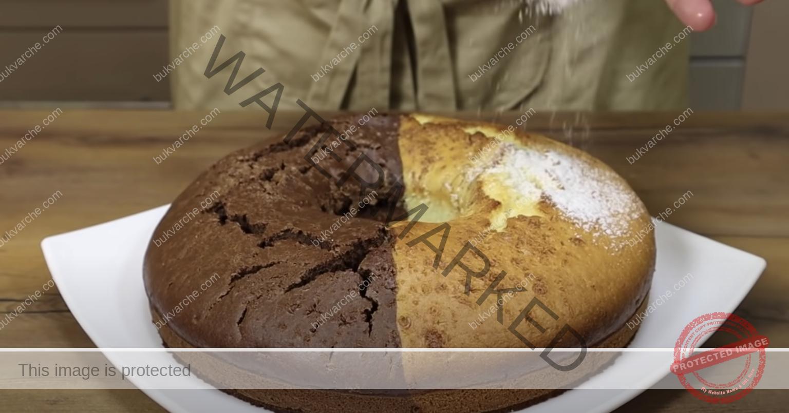 Двуцветен кекс: смесете всички съставки и печете!