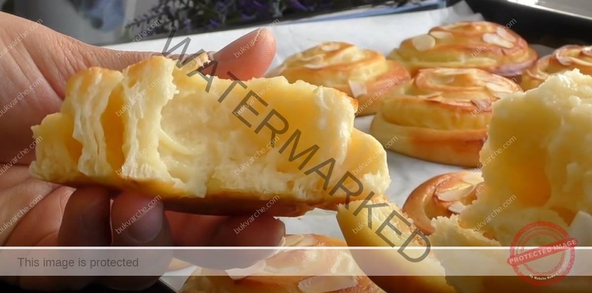 Охлюви с ванилов крем - меки, пухкави и ароматни