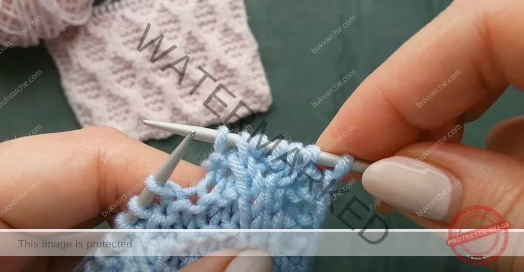 Красива релефна плетка за пуловери, шапки и одеяла