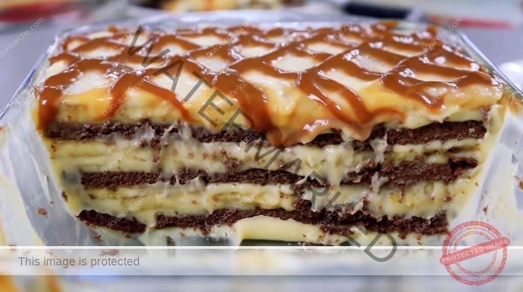 Домашна бананова торта с вкус на карамел. Опитайте!