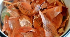 Отвара от лукови люспи за подхранване на цветята