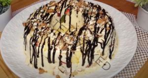 Плодов десерт с шоколадова глазура за вашето семейство
