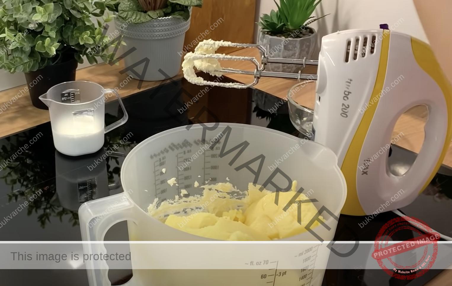Кремообразен сладкиш, който се приготвя от няколко съставки