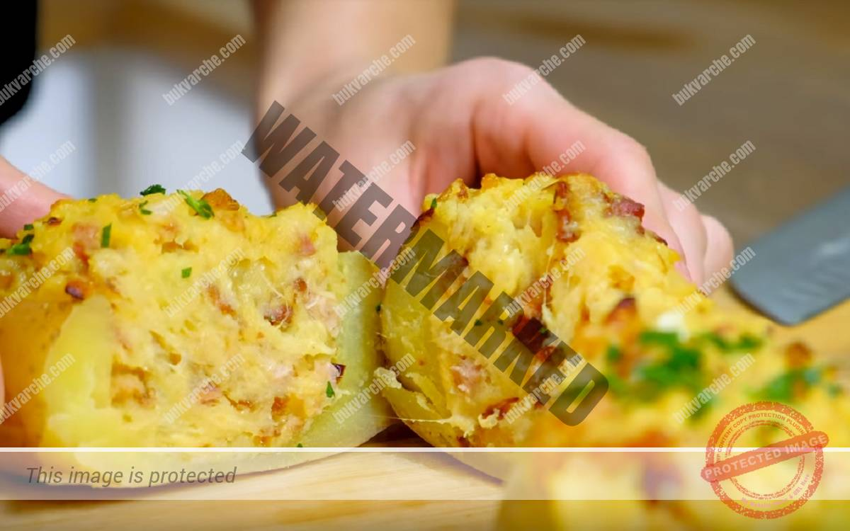 Картофи с бекон и кашкавал на фурна - засищащо ястие